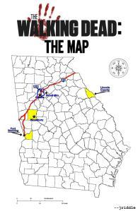 WalkingDeadThe Map